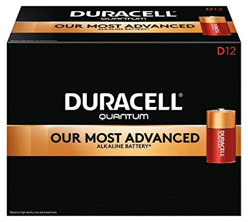 Duracell QU1300 Quantum Alkaline D Batteries (Pack of 12)