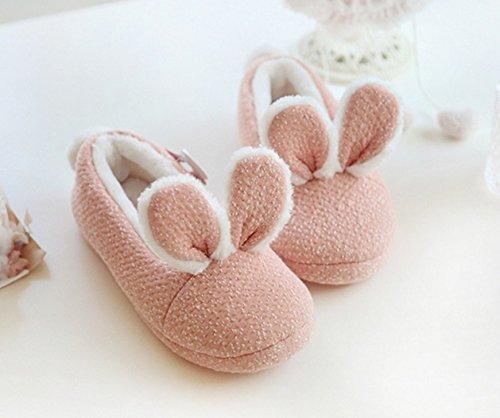 Mhgao Home da donna autunno/inverno per il tempo libero in cotone pantofole calde pantofole antiscivolo, rosa, grande