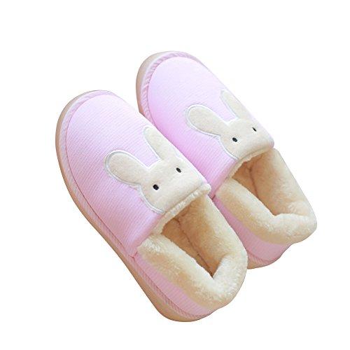 Hevinle Abbinabile A Coppie Di Simpatici Coniglietti Lavabili Slip On Pink