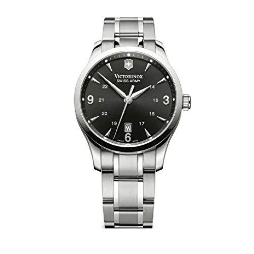 - Victorinox Alliance Black Dial Stainless Steel Mens Watch 241473XG (Renewed)