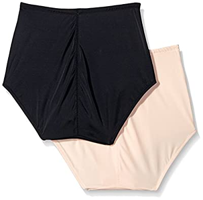 Ellen Tracy Women's Lightweight Control 2 Pack Tummy Smoother Brief Shaper Panty