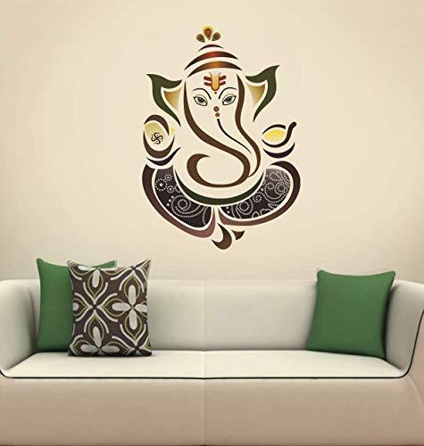 Paper Plane Design Decals Ganesha Ganpati ji 50 cm x 70 cm Wall Sticker Colourful Ganesh Lord...