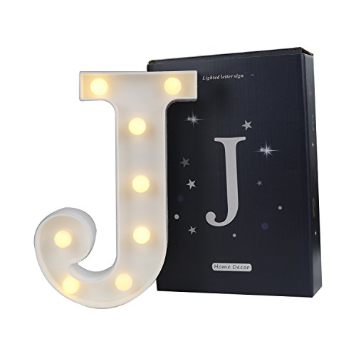 LED Marquee Letter Lights Alphabet Light Up Sign for Wedding Home Party Bar Decoration J