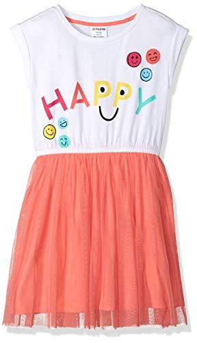 - Spotted Zebra Big Girls' Knit Short-Sleeve Tutu Dress, White, Medium (8)