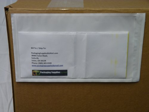 Clear Packing List Enclosed Envelope Plain Face Back Load 2.0 Mil Thick - 5.5'' X 10'' 1000/Case by PackagingSuppliesByMail