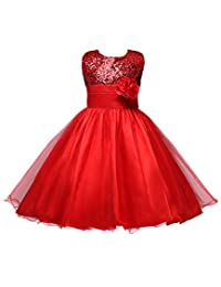 LynnBridal Flower Girl Dress Wedding Party Tulle Sequins Girl's Party Dress