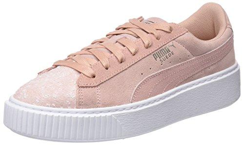 peach White Pebble Beige Ginnastica Da Donna puma Beige Suede Wn's Puma Basse Platform Scarpe pwSTvFF
