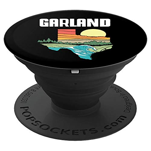Garland Texas Outdoors Vintage Nature Retro Graphic PopSockets Grip and Stand for Phones and Tablets