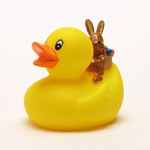 Rubber Duck with Easter Bunny | Bathduck | Duckshop | L: 8 cm ()