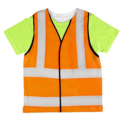 Halloween Road Worker Construction Vest Costume All Over Toddler T Shirt Multi 2T