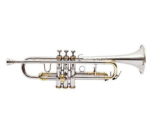 TRUMPET Bb PITCH 2 TONE BRASS + NICKEL WITH HARD CASE AND MP
