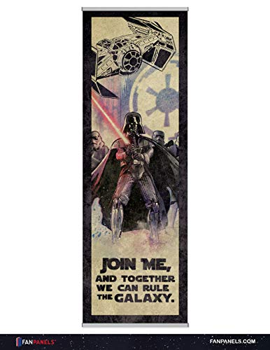 Star Wars Rule The Galaxy-Darth Vader FanPanel Authentic Lucasfilm Entertainment Licensed Art. Ideal Wall Art, Game Room Decor and Star Wars Collectible Art. 72 Inches Tall by 24 Inches Wide.