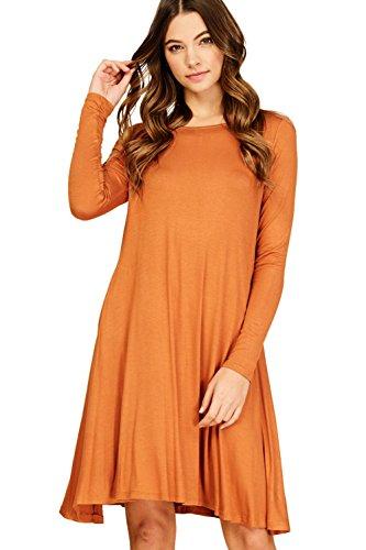 orange knit dress - 3