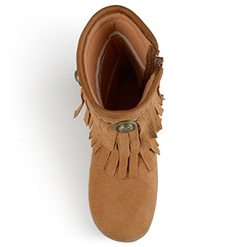 Round Boots Journee Kids Toe Chestnut Fringed ZSnw5qz0