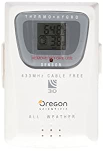 Oregon Scientific THGR810 10-Channel Wireless Remote Thermometer/Humidity Sensor with 10 Channels for the WMR200, WMR100, and WMR90 Weather Stations