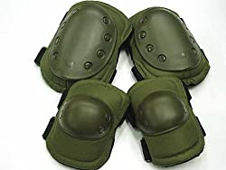 Green Tactical Military Outdoor Sport Knee & Elbow Protective Pads Hot Sale