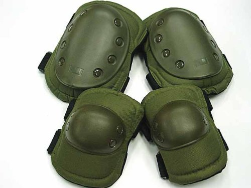 Green Tactical Military Outdoor Sport Knee & Elbow Protective Pads Hot Sale by ABCoutdoor