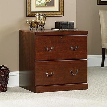 Wood File Cabinets Lock (Sauder Heritage Hill Lateral File, Classic Cherry Finish)