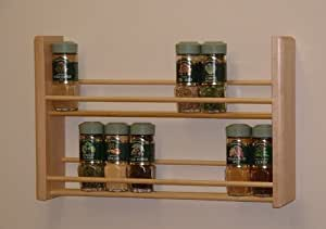 Spice Rack, Two Tier, Natural