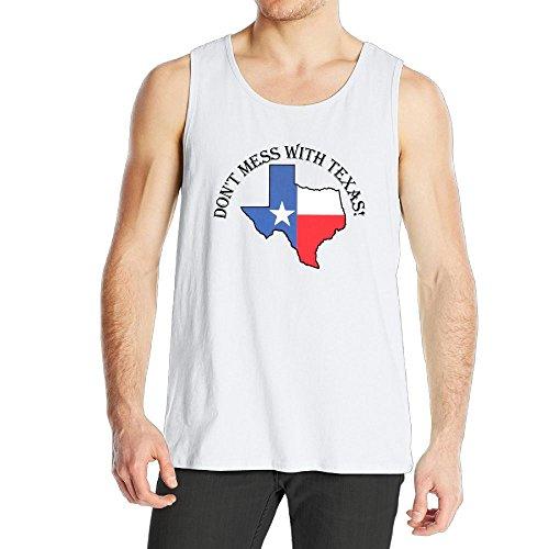 BjlkMLMLM Mess with Texas Men's Cotton Sleeveless Vests