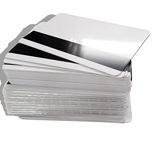 50X Blank Inkjet Hico Track-3 Magnetic Stripe Card Double Sides Printable PVC ID Card
