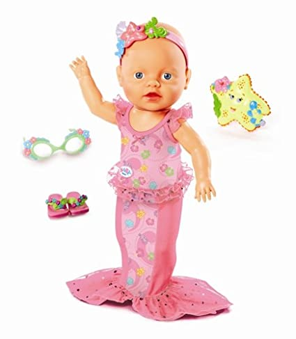 Amazoncom Mga Zapf Creation Baby Born Mommy Look I Can Swim Doll