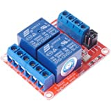 SMAKN® DC 12V 2CH 2 Channel Isolated Optocoupler High/Low Level Trigger Relay Module