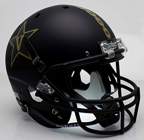 Schutt NCAA Vanderbilt Commodores Replica XP Football Helmet, Gold Anchor Alt. 3