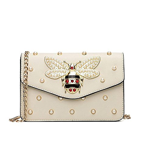 Women Hot Handbag PU Leather bags(white) - 5