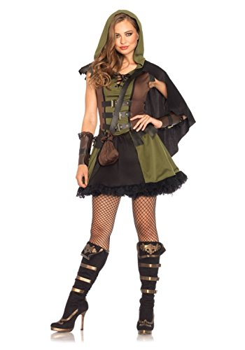 [Mememall Fashion Sexy Princess Of Thieves Robin Hood Tunic Dress Fairy Tales Costume Adult Women] (Robin Corset Costume)