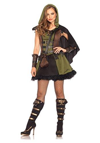 [Mememall Fashion Sexy Princess Of Thieves Robin Hood Tunic Dress Fairy Tales Costume Adult Women] (Robin Corset Costume)