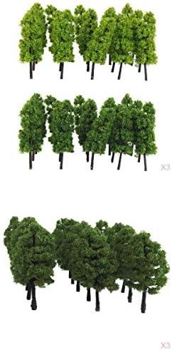 Perfeclan 1/150 1/100 モデルツリー 森の木 鉄道模型 野外風景 DIY サンドテーブル 装飾 約120個