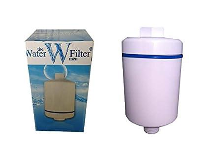 The Water Filter Men Inline - Filtro para Ducha - Universal - Blanco - El Cloro y Cal Ducha Filtro de Agua: Amazon.es: Industria, empresas y ciencia