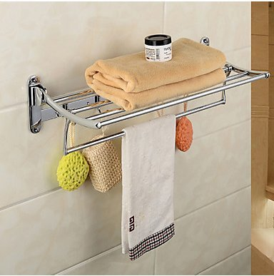 Towel Bar High Quality Contemporary Stainless Steel Zinc Alloy 1 Pc Hotel Bath Double