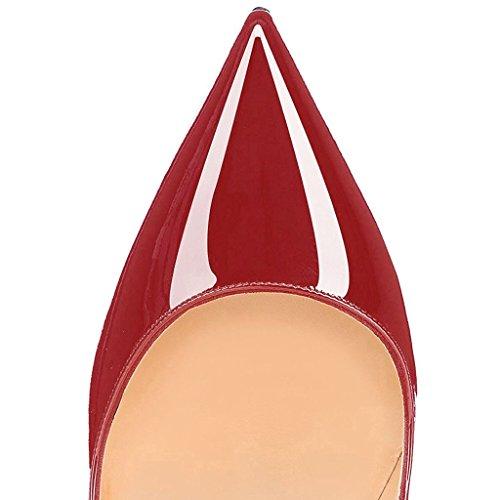 Escarpins Taille Talon 12 Cm Elegant Aiguille Stilettos À 35 45 Femmes Chaussures Bordeaux Edefs 5Tnxqv1R