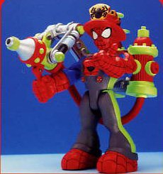 (Spider-Man & Friends Fire Fighter Spider-Man with Water Shooting Action)