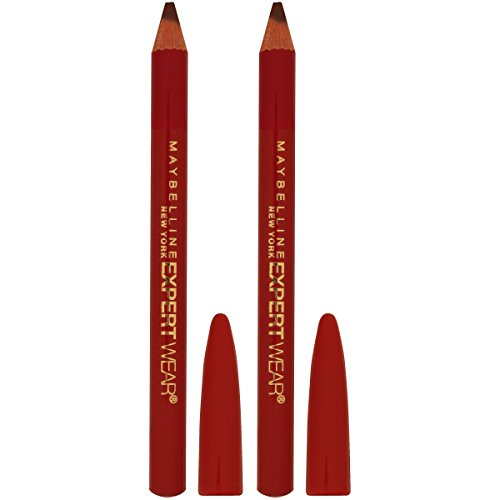 Maybelline New York Makeup Expert Wear Twin Eyebrow Pencils and Eyeliner Pencils, Medium Brown Shade, 0.06 oz