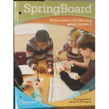 SpringBoard: Mathematics with Meaning, Middle School 2