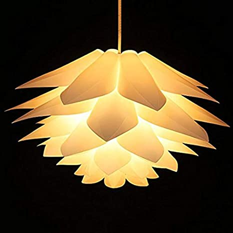 Decorative Home Decor Diy Puzzle Lotus Flower Lamp Lampshade