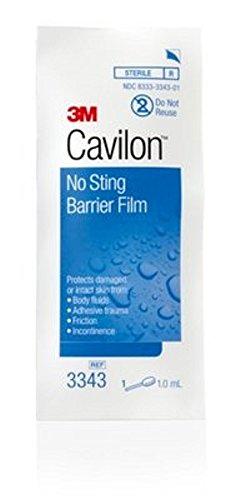 3M Cavilon No-sting Barrier Film Box of 25 Packaging 1ml Swab 3M SAS2349 (HC) 3M 3343 (Box)