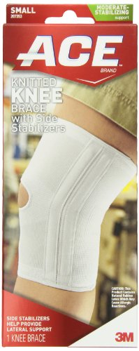 - ACE Knitted Knee Brace with Side Stabilizers, Small