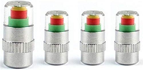 Semoic 4個/セット車のタイヤバルブキャップタイヤ空気圧テーブルタイヤゲージタイヤ空気圧監視警告キャップ