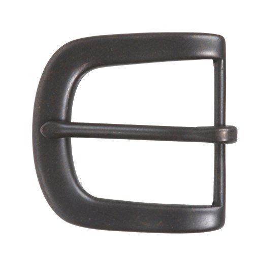 "1 3/4"" (45 mm) Nickel Free Single Prong Horseshoe Belt Buckle Color: Dark Brass from beltiscool"