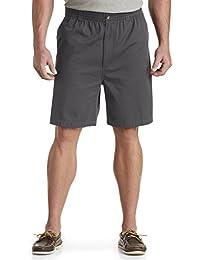 by DXL Big and Tall Elastic-Waist Twill Shorts