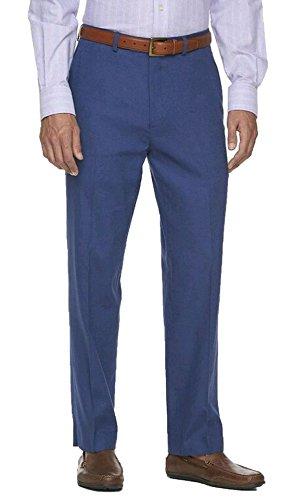 Chaps Men's Linen Classic-Fit Pants (38W/30L, Blue) by Chaps