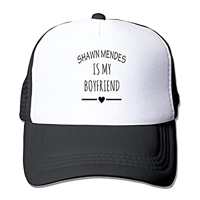 Casual Flat Billed Caps Shawn Stitches Mendes is My Boyfriend Hip Hop Caps Black