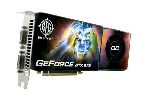 BFG BFGEGTX275896OCE NVIDIA GeForce GTX 275 OC 896MB GDDR3 PCI Express 2.0 Graphics Card (Geforce 275)