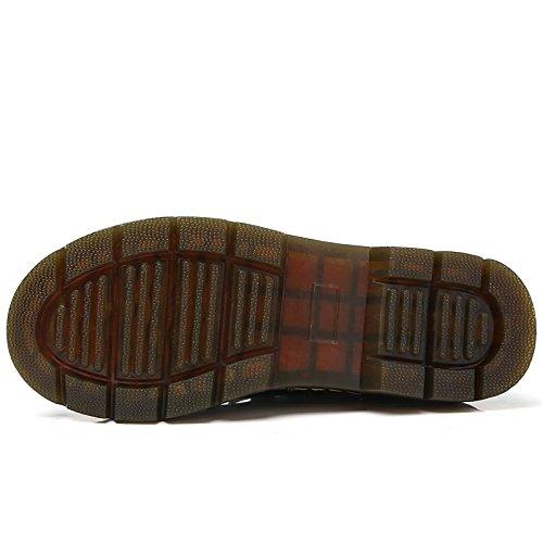 Stivaletti EU39 Stivali Black donna US8 HSXZ Scarpe CN39 rientrano per stivaletti Round Toe tacco UK6 piatto Sequin Stivali molla Nero vera pelle la moda Rosso ZHZNVX Casual vAcagWSBv