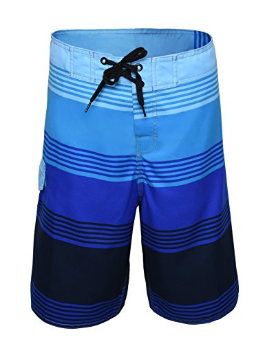 Nonwe Men's Striped Quick Dry Beachwear Beach Shorts JFCB1611920-32