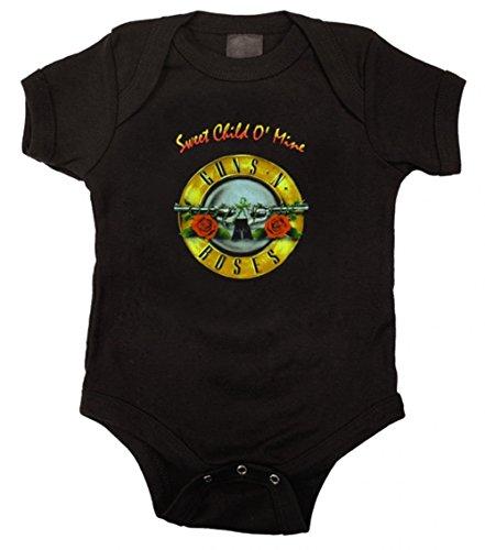 Guns n Roses GNR Onesie Baby Bodysuit Sweet Child, Black (6 Months) - Guns N Roses Bodysuit